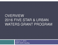 2016 Five Star & Urban Waters Grant Program (Jan 2016)