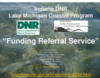 Lake Michigan Coastal Program Funding Referral Service (Oct 2016)
