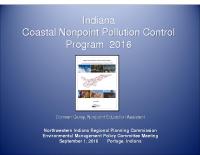 Indiana Coastal Nonpoint Pollution Control Program (Sep 2016)