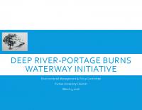 Deep River-Portage Burns Waterway Initiative Update (Mar 2016)