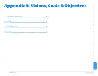 Appendix A:  Visions, Goals & Objectives